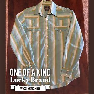 Lucky Brand Shirts - Lucky Brand western snap shirt